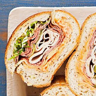 Super-Stuffed Deli Sandwich.