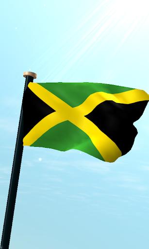 牙買加旗3D動態桌布