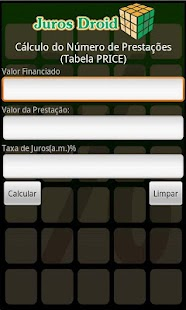 Calculadora Juros Droid - screenshot thumbnail