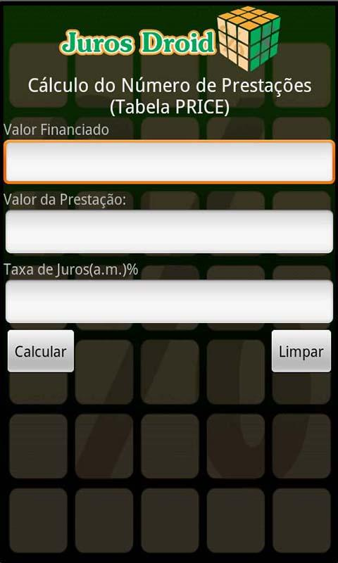 Calculadora Juros Droid - screenshot