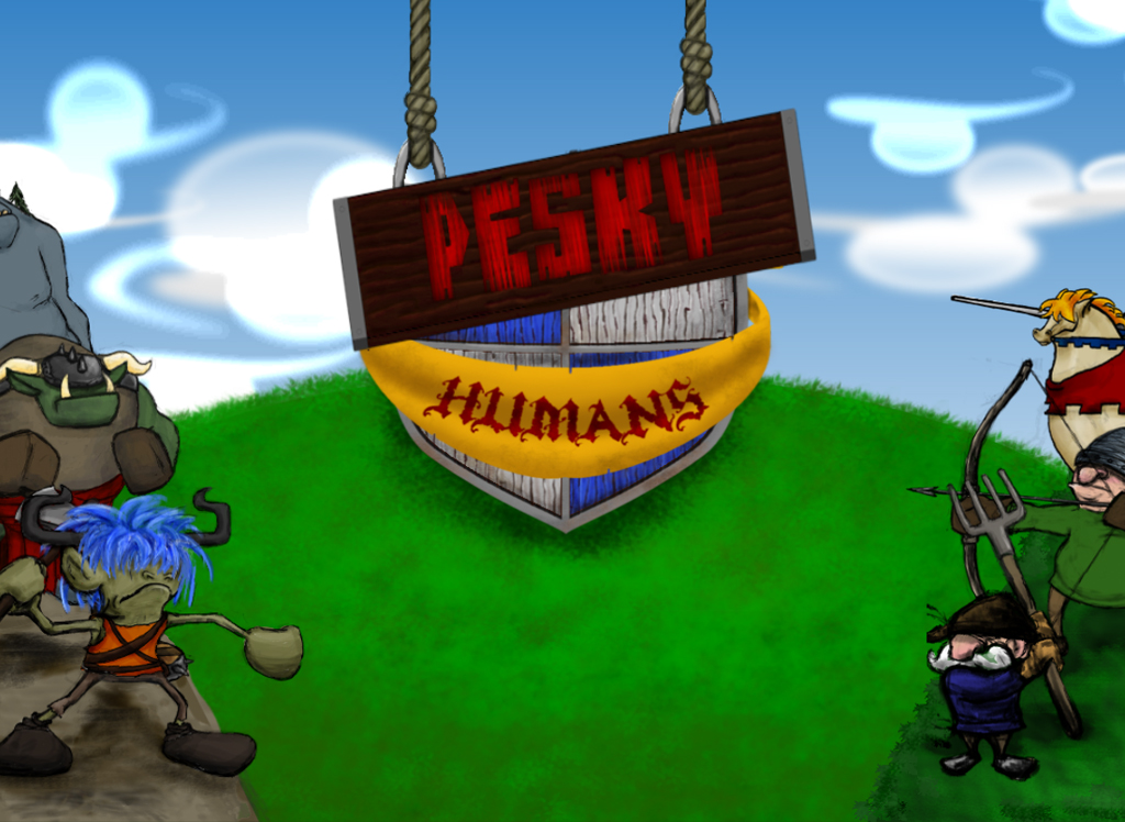 Pesky Humans 2D strategy game- screenshot