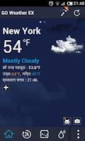 Screenshot of Hindi Language GO Weather EX