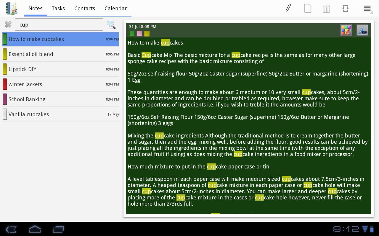 VCOrganizer Tab+- screenshot