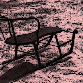 Antique Sleigh by Nat Bolfan-Stosic - Uncategorized All Uncategorized ( old, time, sleigh, snow, antique )