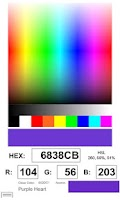 Screenshot of Rockin' Color Picker Lite