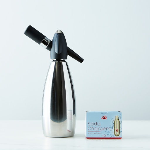 Stainless Steel Soda Siphon with 10 Chargers