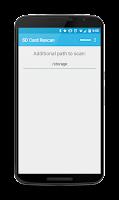 Screenshot of SD Card Rescan