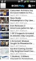 Screenshot of CBS Philly