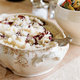 Risotto with Champagne and Radicchio.