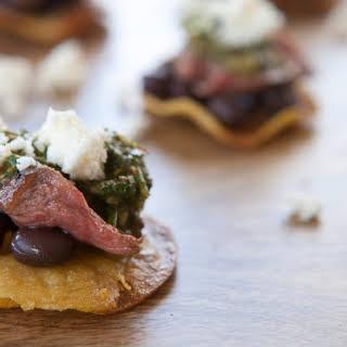 Steak Tostada Bites.