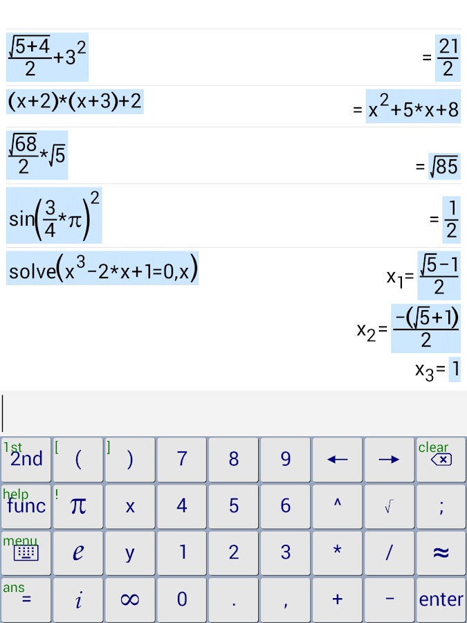 Symbolic Calculator- screenshot