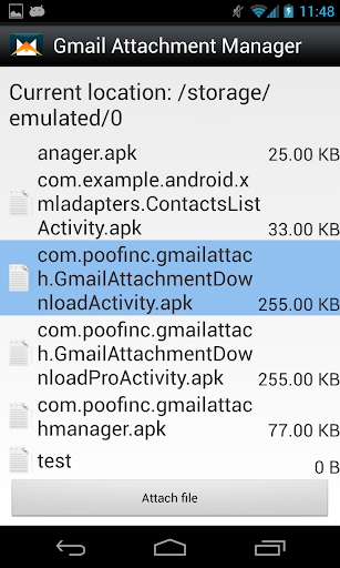 Gmail Attachment Manager