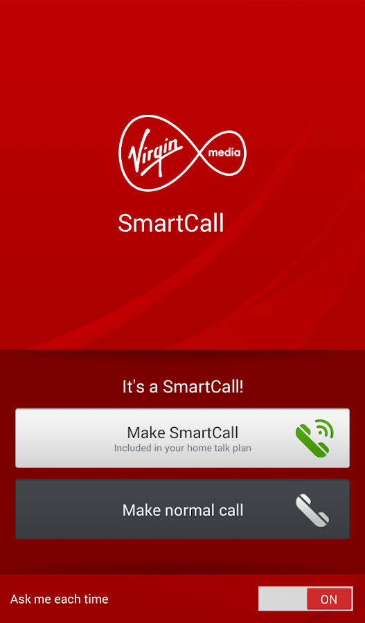 Virgin Media SmartCall- screenshot