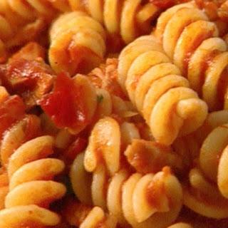 Fusilli With Tuna And Tomato Sauce.