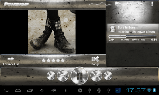 玩生活App Poweramp skin グランジ黒 & w免費 APP試玩