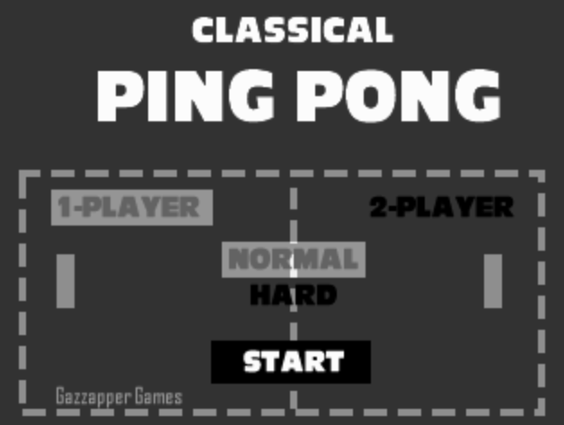 classic ping pong game