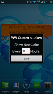 Wacky Widget Quotes n Jokes - screenshot thumbnail