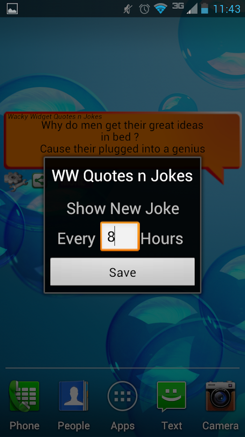 Wacky Widget Quotes n Jokes - screenshot