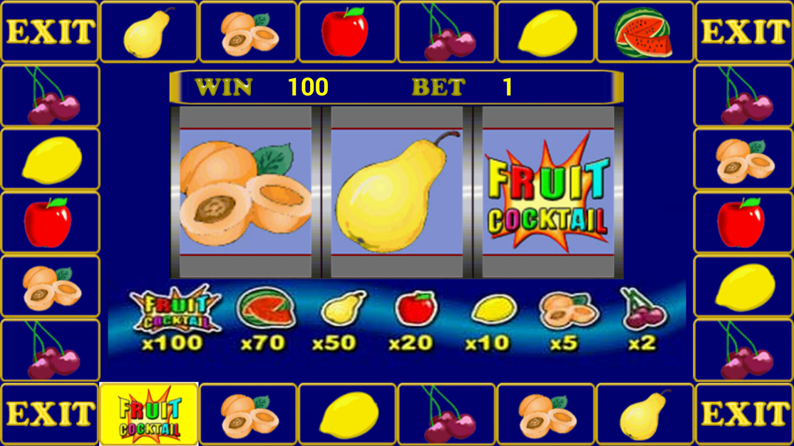 Бесплатные игры фрукт коктейль
