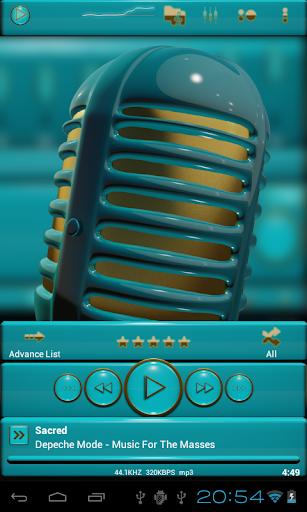 玩生活App ゴールド ライトブルー poweramp 皮膚免費 APP試玩