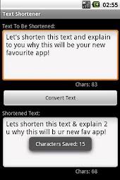 Text Shortener