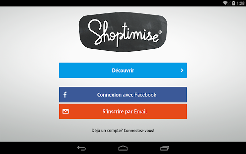 Shoptimise Capture d'écran