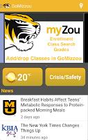 Screenshot of GoMizzou