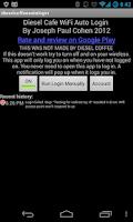 Screenshot of Diesel Cafe Wifi Autologin