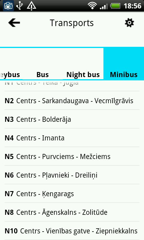 RIGA PUBLIC TRANSPORT - screenshot