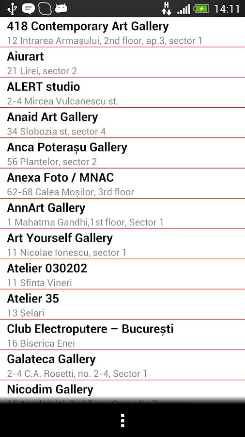 Noaptea Galeriilor 2013- screenshot