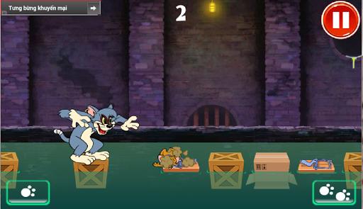 Crazy Cat Tom catches Jerry