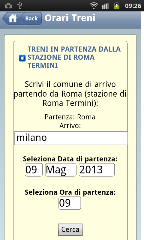 Orari Bus & Treni Italia - screenshot