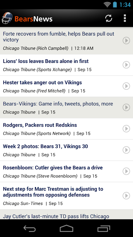 Bears News - screenshot