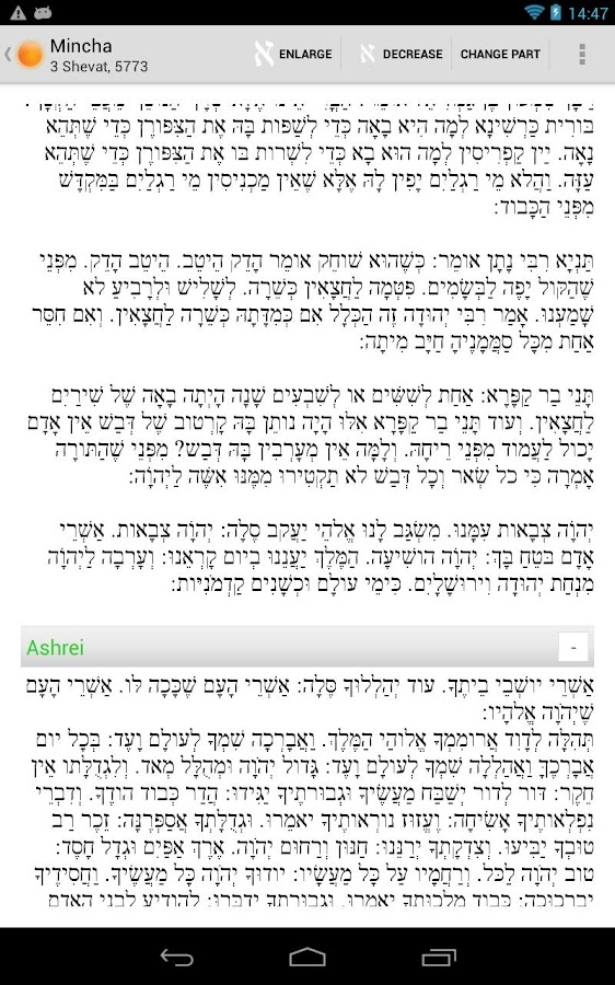 Smart Siddur - screenshot