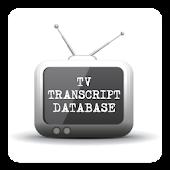 TV Transcript Database