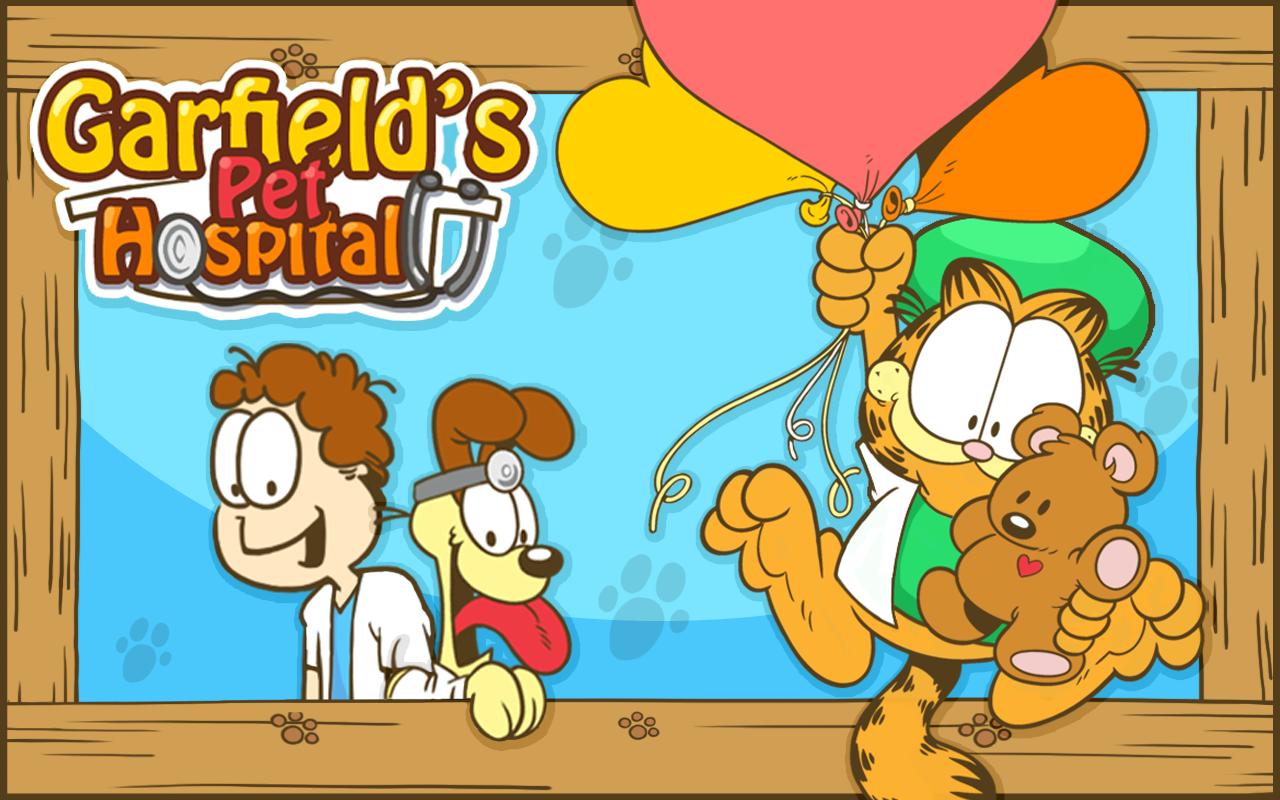 Screenshots of Garfield's Pet Hospital for iPhone