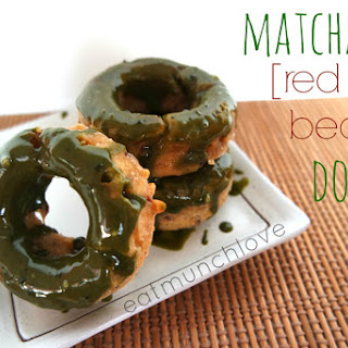 Adzuki Red Bean Donuts With Matcha Glaze (vegan Friendly)