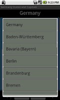 Screenshot of Germany States and Capitals