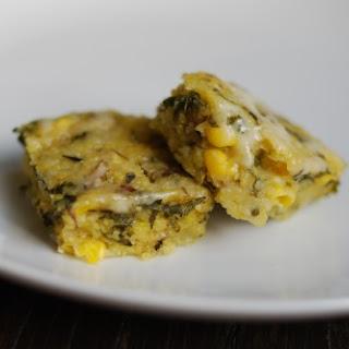 Mushroom Polenta Squares Recipe