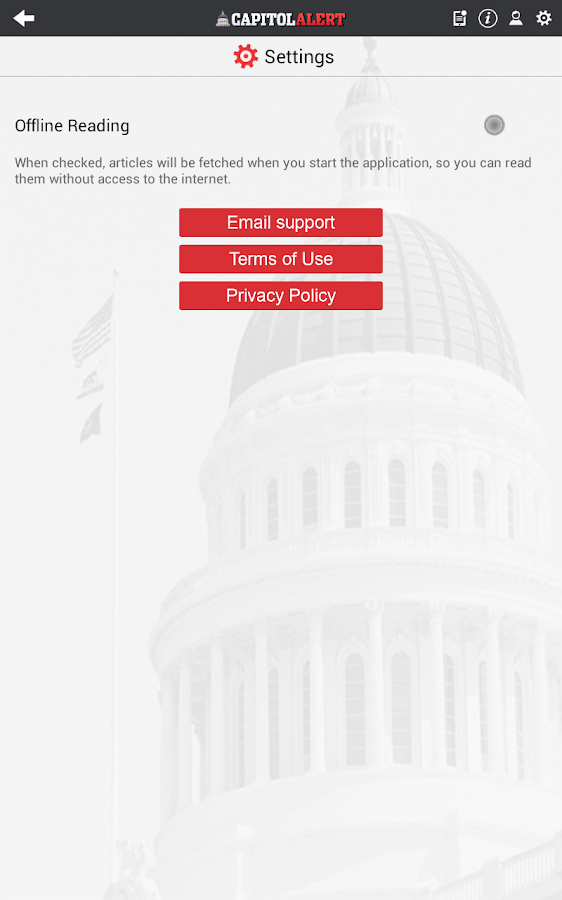 Capitol Alert- screenshot