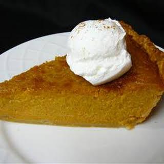 Mrs. Sigg's Fresh Pumpkin Pie.