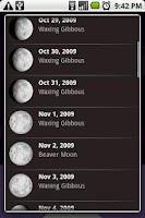 Screenshot of MoonPhase Widget