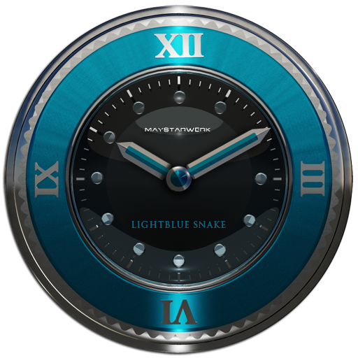 lightblue snake clock widget