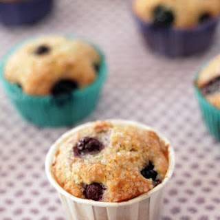 Sweet Blueberry Corn Muffins.