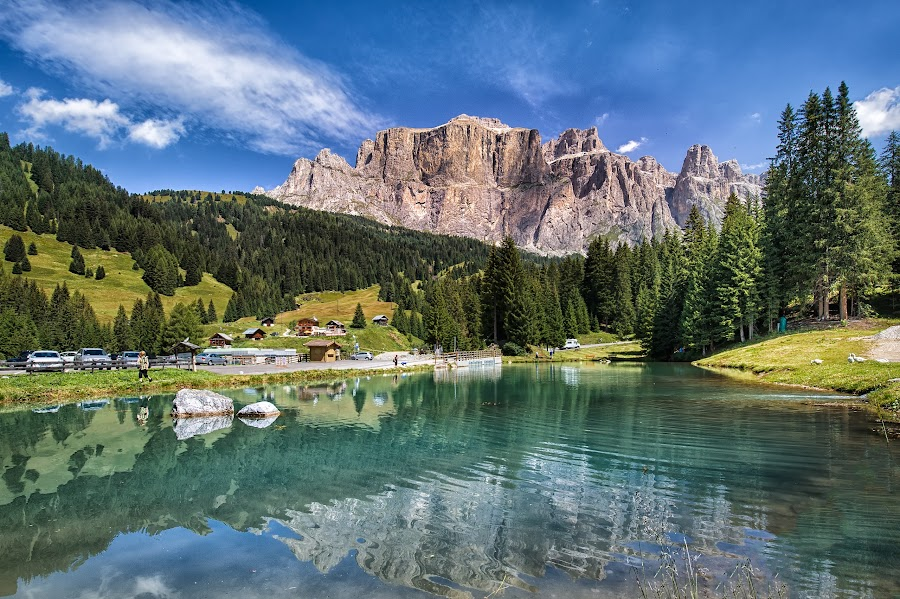 Dolomiti by Marco Carotenuto - Landscapes Mountains & Hills ( clouds, sky, mountain, lake, landscape, italy, reflex )