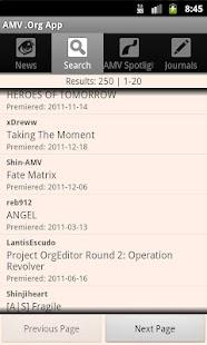 AMV .Org App- screenshot thumbnail