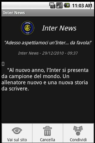 zNews - FC Inter - screenshot