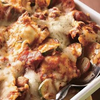 Sausage Ravioli Casserole.