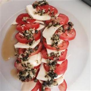 Mozzarella and Tomato Appetizer Tray.