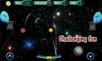 Screenshot of Cosmic Basketball